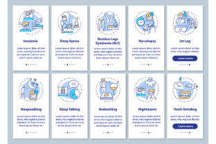 Print on Demand: Sleep Disorders Onboarding App Pages Graphic Graphic Templates By bsd studio