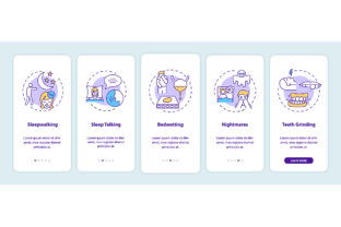 Print on Demand: Sleep Problems Onboarding App Pages Graphic Graphic Templates By bsd studio