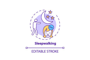 Print on Demand: Sleepwalking Concept Icon Graphic Icons By bsd studio
