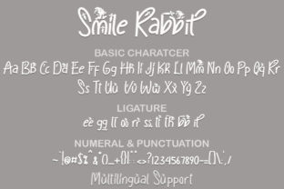 Print on Demand: Smile Rabbit Display Font By yogaletter6 7