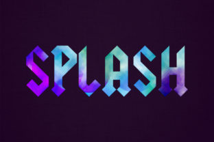 Splash 3d Spray Style Text Effect Graphic Layer Styles By grgroup03