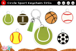 Sport Keychain and Keyring SVG Graphic Crafts By Cute files