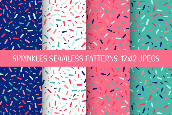 Sprinkles Seamless Patterns Graphic