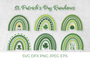 St. Patrick's Day Rainbows Graphic Crafts By LaBelezoka