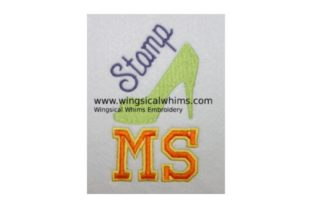 Stomp MS - Mutiple Scelorsis Awareness Embroidery Design By Wingsical Whims Designs