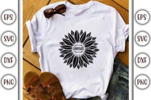 Print on Demand: Sunflower SVG Design, Sunflower Graphic Print Templates By GraphicsBooth