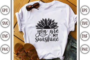 Print on Demand: Sunflower SVG Design, You Are My Graphic Print Templates By GraphicsBooth