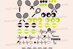 Tennis Racket Svg Bundle, Monogram Frame Graphic Crafts By RedCreations