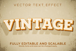 Print on Demand: Text Effect Retro Vintage 80s Text Style Graphic Layer Styles By NA Creative