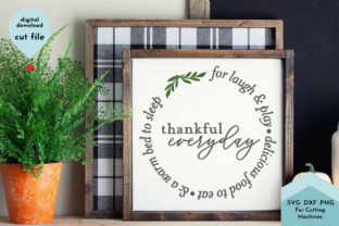 Print on Demand: Thankful Everyday SVG - Gratitude Sign Graphic Crafts By Lettershapes
