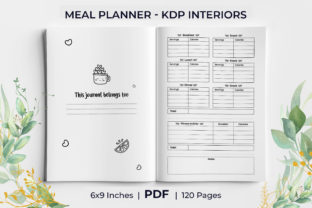 Print on Demand: Undated Daily Meal Planner KDP Interior Graphic KDP Interiors By KdpKing
