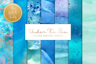 Print on Demand: Under the Sea Background Set Graphic Backgrounds By daphnepopuliers