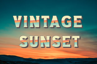 Print on Demand: Vintage Sunset Display Font By Vladimir Carrer