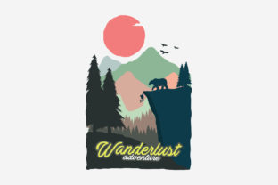 Print on Demand: Wanderlust Adventure Vintage Beer Poster Graphic Graphic Templates By PyruosID