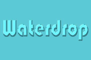 Waterdrop Water Dew Style 3d Text Effect Graphic Layer Styles By grgroup03