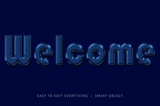 Welcome Oily 3d Text Effect Graphic Layer Styles By grgroup03