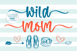 Print on Demand: Wild Mom Manuscrita Fuente Por BitongType
