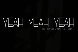 Print on Demand: Yeah, Yeah, Yeah Sans Serif Font By Nariswari Creative
