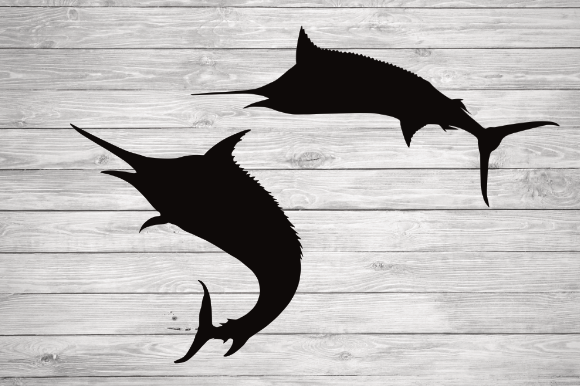 Print on Demand: Marlin Fish Svg, Marlin Fish Silhouette Graphic Illustrations By rayan