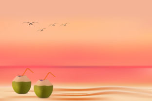 Sunset Beach Background Graphic Backgrounds By hamdhan231196