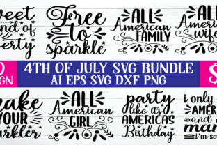 Print on Demand: 4th of July SVG Bundle  By BDB_Graphics