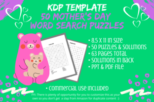 Print on Demand: 50 Mothers Day Word Search Puzzles Book Graphic KDP Interiors By Tomboy Designs