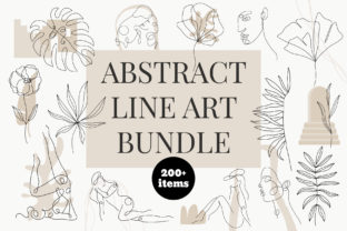 Abstract  Line Art Bundle Graphic Illustrations By anna.illustration111