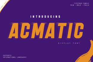 Print on Demand: Acmatic Display Font By twinletter