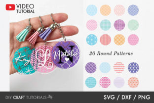 Acrylic Keychain Pattern Graphic Crafts By DIY Craft Tutorials