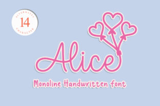 Print on Demand: Alice Script & Handwritten Font By Nirmala Creative