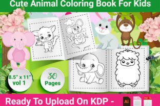 Print on Demand: Animal Coloring Book for Kids - Vol 1 Graphic KDP Interiors By Creative Designer