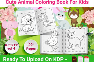 Print on Demand: Animal Coloring Book for Kids - Vol 4 Graphic KDP Interiors By Creative Designer