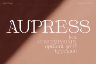 Print on Demand: Aupress Serif Font By S6 Foundry