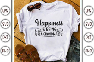 Print on Demand: Baby Quotes Design, Happiness is Being Graphic Print Templates By GraphicsBooth