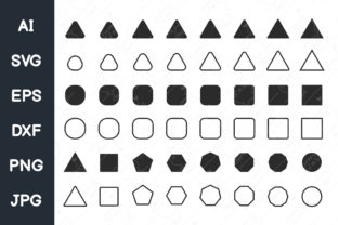 Print on Demand: Basic Geometric Shapes Graphic Illustrations By CRStocker