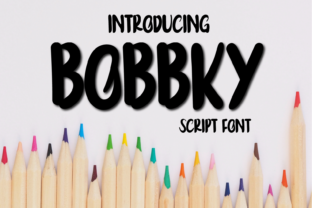 Print on Demand: Bobbky Display Font By aksaratrabas