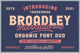 Print on Demand: Broadley Display Font By letterhend