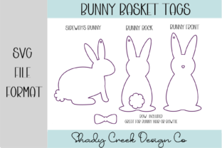 Bunny Easter Basket Hang Tags Graphic 3D SVG By Shady Creek Design Company