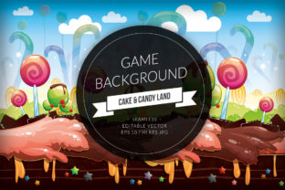 Cake & Candyland Seamless Background Graphic Backgrounds By SCWorkspace