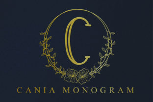 Print on Demand: Cania Monogram Decorative Font By niyos.studio