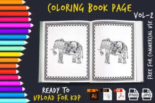 Coloring Book Pages for KDP Graphic KDP Interiors By Golam Kader Riad