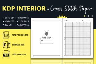 Print on Demand: Cross Stitch Graph Paper - KDP Interior Graphic KDP Interiors By KDP King