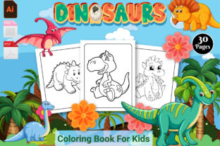 Print on Demand: Dinosaur Coloring Book for Kids - VOL 1 Graphic KDP Interiors By Creative Designer