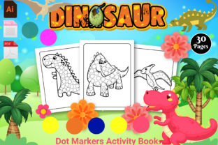 Print on Demand: Dinosaur Dot Markers Activity Book - KDP Graphic KDP Interiors By Creative Designer