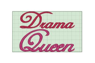 Drama Queen Fashion & Beauty Embroidery Design By Wingsical Whims Designs