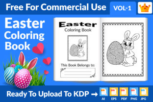 Easter Coloring Book KDP Interior Vol 1 Graphic KDP Interiors By Md Abu Saeid