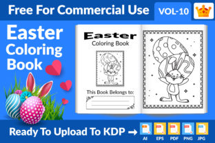 Easter Coloring Book KDP Interior Vol 10 Graphic KDP Interiors By Md Abu Saeid