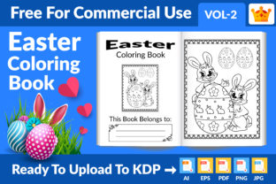 Easter Coloring Book KDP Interior Vol 2 Graphic KDP Interiors By Md Abu Saeid