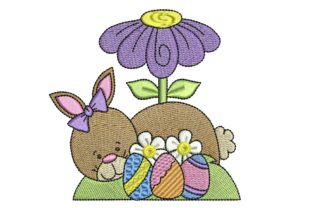 Easter Delight Bunny Easter Embroidery Design By BabyNucci Embroidery Designs