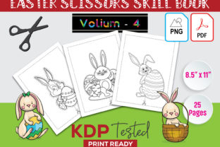 Easter Scissors Skill Book KDP Interior Graphic KDP Interiors By GraphicTech360